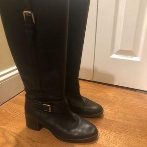 Ralph Lauren Black Leather Riding Boots US 8.5